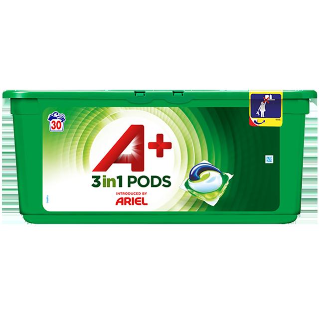 Embalagem A+ apresentada por Ariel Cápsulas Optimal 30 Doses