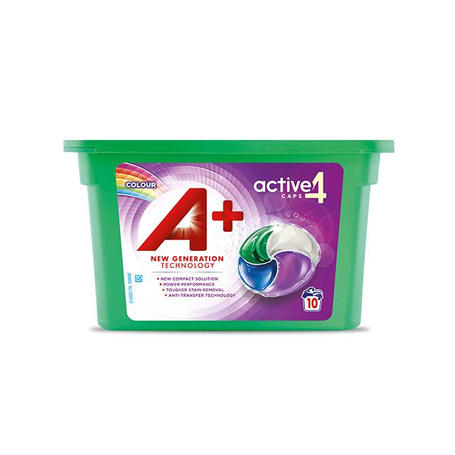 A+ Active4 Caps Colour - Embalagem 10 lavagens