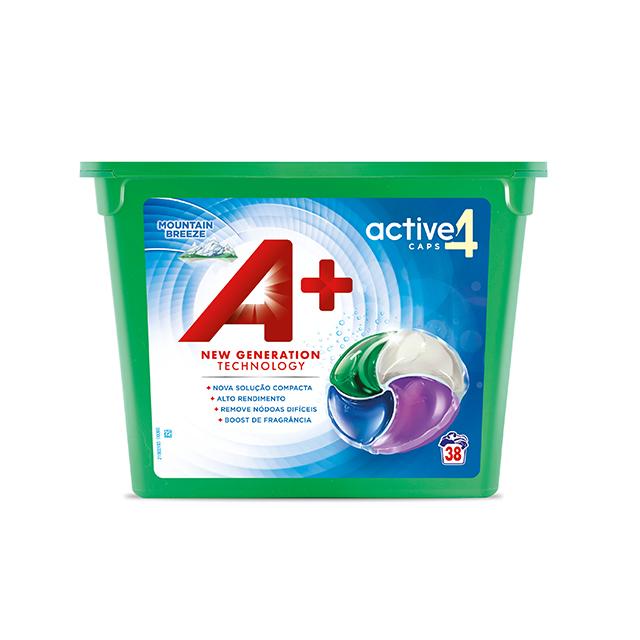 A+ Active4 Caps Mountain Breeze - Embalagem 38 lavagens