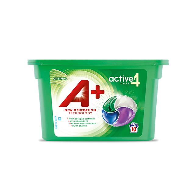 A+ Active4 Caps Optimal - Embalagem 10 lavagens