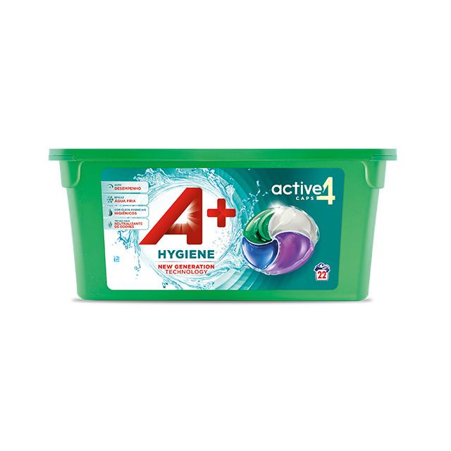 A+ Active4 Caps Hygiene - Embalagem 22 lavagens