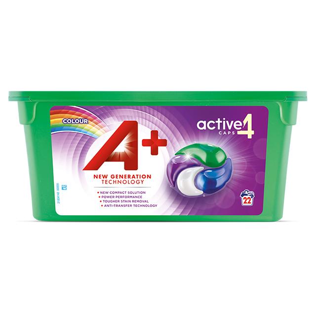 A+ Active4 Caps Colour - Embalagem 22 lavagens