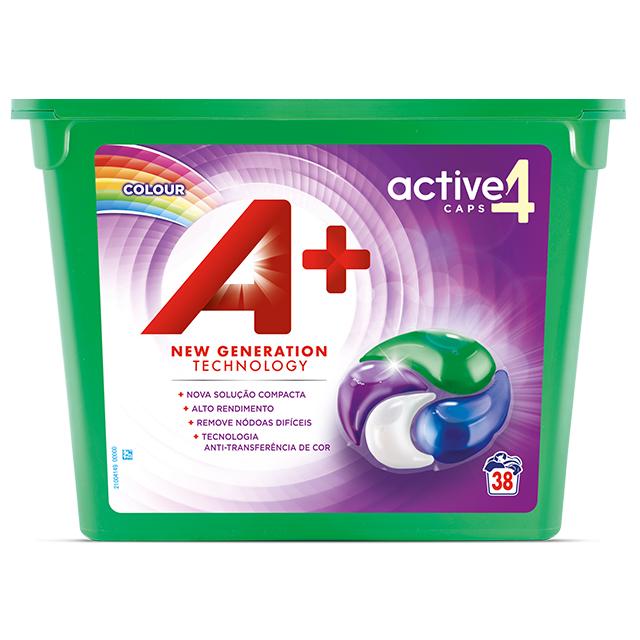 A+ Active4 Caps Colour - Embalagem 38 lavagens