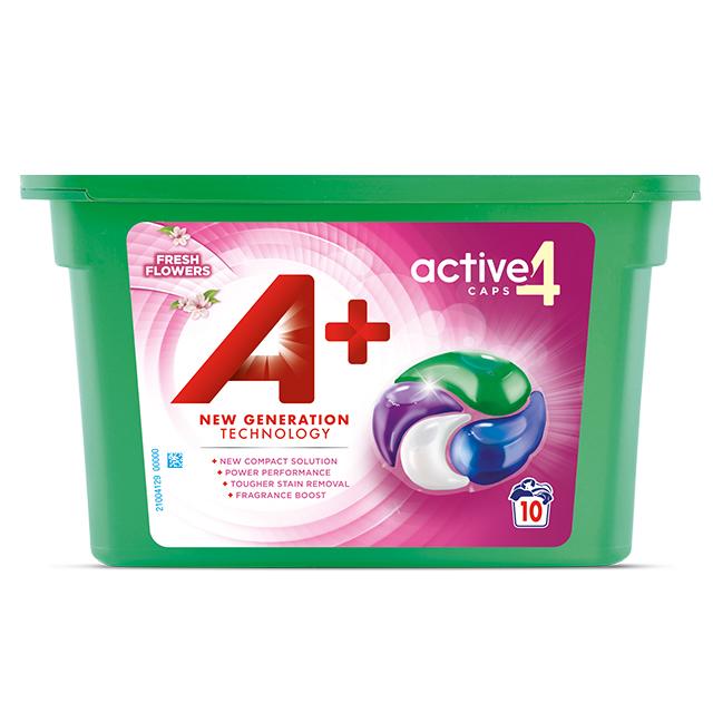 A+ Active4 Caps Fresh Flowers - Embalagem 10 lavagens