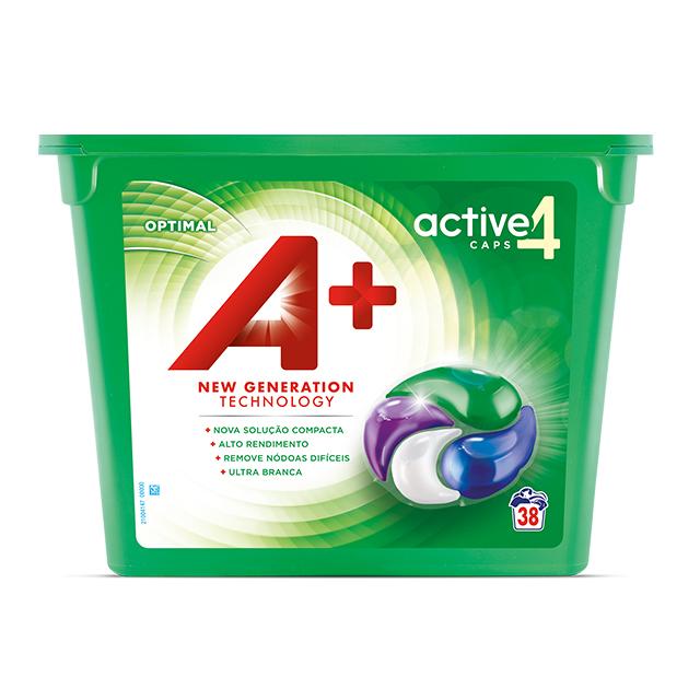 A+ Active4 Caps Optimal - Embalagem 38 lavagens