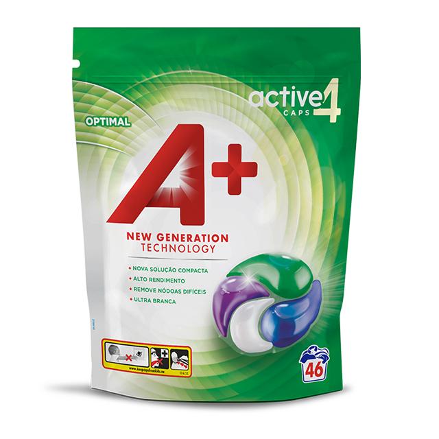 A+ Active4 Caps Optimal - Embalagem 46 lavagens