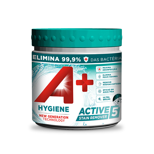 A+ Pó Active5 Stain Remover Hygiene Embalagem