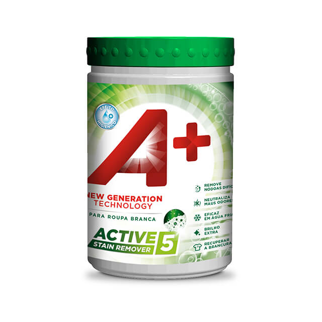 A+ Pó Active5 Stain Remover Roupa Branca 990gr