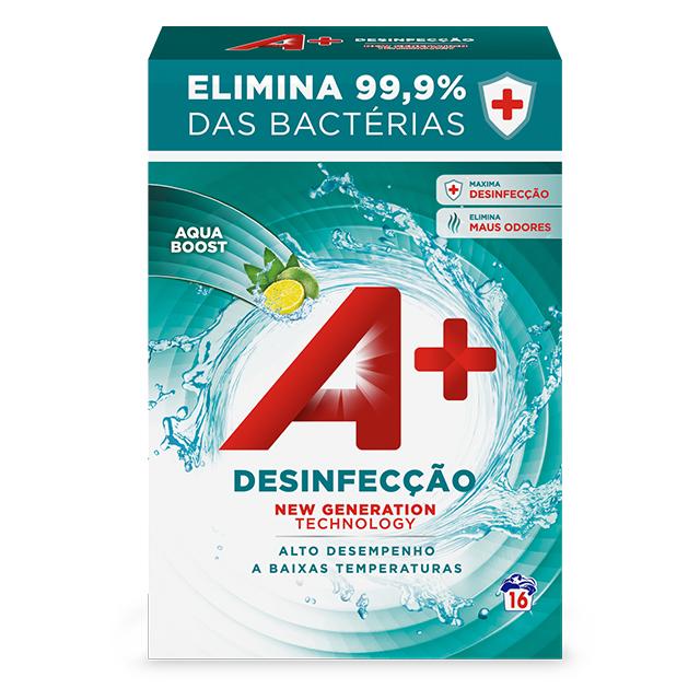 A+ Pó Desinfecção - Embalagem 16 lavagens