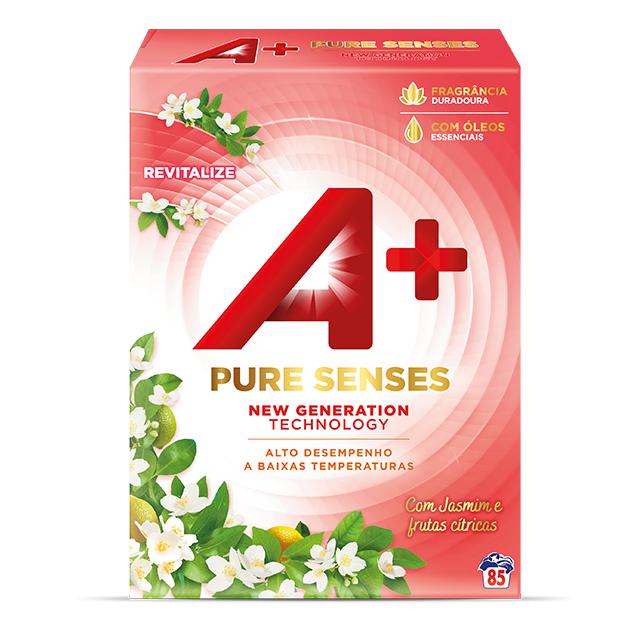 A+ Pure Senses Revitalize Jasmim e Frutas Cítricas em Pó - Embalagem para 85 lavagens